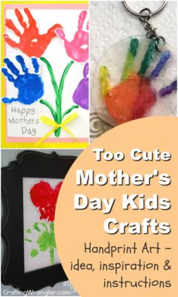 Mothers Day Kids Crafts-Handprint Art