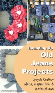 Rounding Up Old Jeans Projects - Upcycle Crafts