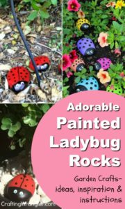Painted Ladybug Rocks | Garden Crafts