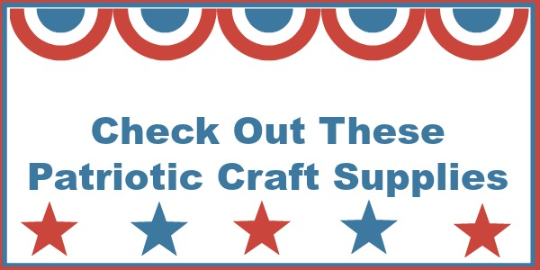 Patriotic Craft Supplies can be found at AMAZON